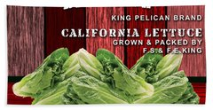 Lettuce Farming Beach Towel