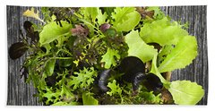 Lettuce Seedlings Beach Towel