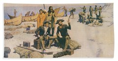 Lewis And Clark At The Mouth Of The Columbia River Beach Towel