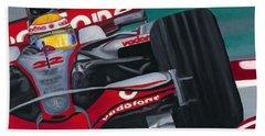 Lewis Hamilton F1 World Champion 2008 Beach Towel