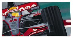Lewis Hamilton F1 World Champion 2008 Beach Towel
