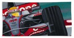 Lewis Hamilton F1 World Champion 2008 Beach Sheet