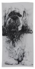 Lhasa Apso Beach Towel
