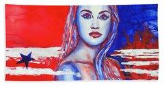 Liberty American Girl Beach Towel by Anna Ruzsan