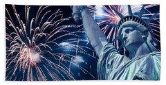 Liberty Fireworks Beach Towel