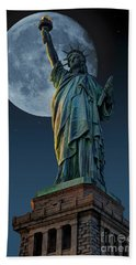 Liberty Moon Beach Towel by Steve Purnell