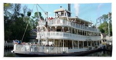 Beach Towel featuring the photograph Liberty Riverboat by David Nicholls
