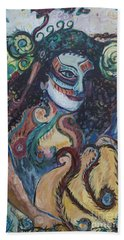 Librarian Of The Night #1 Beach Towel by Avonelle Kelsey