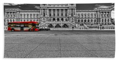 Beach Towel featuring the photograph Library Of Congress by Peter Lakomy