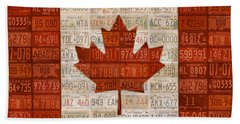 License Plate Art Flag Of Canada Beach Towel