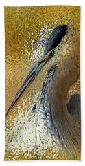 Life In The Sunshine - Bird Art Abstract Realism Beach Towel