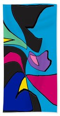 Original Abstract Art Painting Life Is Good By Rjfxx.  Beach Towel