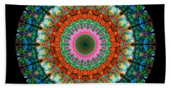 Life Joy - Mandala Art By Sharon Cummings Beach Towel