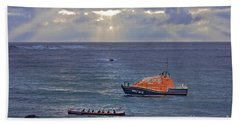 Lifeboats And A Gig Beach Sheet