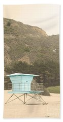 Lifeguard Station Beach Sheet by Cindy Garber Iverson