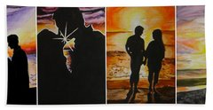 Beach Towel featuring the painting Life's A Beach by Tamir Barkan