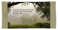 Life's Path Inspirational Art Beach Towel