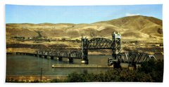 Lift Bridge Over The Columbia River Beach Towel