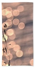 Light Bubbles And Grass 3 Beach Towel by Jocelyn Kahawai