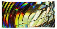 Light Color 1 Prism Rainbow Glass Abstract By Jan Marvin Studios Beach Sheet