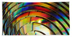 Light Color 2 Prism Rainbow Glass Abstract By Jan Marvin Studios Beach Sheet