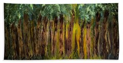 Light In The Forest Beach Towel by Dick Bourgault