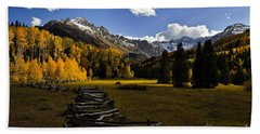 Light In The Valley Beach Towel by Steven Reed