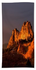 Beach Towel featuring the photograph Light On The Rocks by Ronda Kimbrow