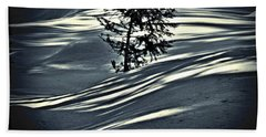 Beach Sheet featuring the photograph Light On The Snow by Janie Johnson