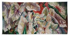 Light Play Caladiums Beach Towel