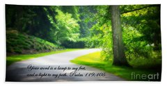 Light To My Path Beach Towel