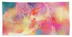 Lighthearted - Abstract Art Beach Towel