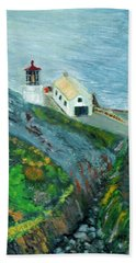 Lighthouse At Point Reyes California Beach Towel