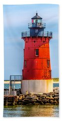 Lighthouse At The Delaware Breakwater Beach Towel