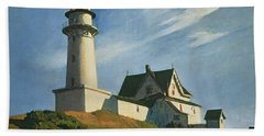 Lighthouse At Two Lights Beach Towel