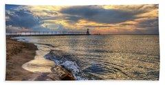 Lighthouse Drama Beach Sheet