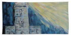 Beach Towel featuring the painting Lighthouse by Maria Langgle