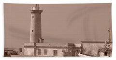 Lighthouse Marsala Beach Towel