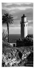 Beach Sheet featuring the photograph Lighthouse On The Bluff by Jerry Cowart