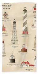 Lighthouses Of The East Coast Beach Towel