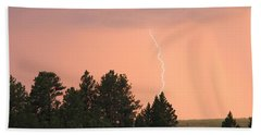 Lighting Strikes In Custer State Park Beach Sheet