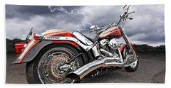 Lightning Fast - Screamin' Eagle Harley Beach Towel