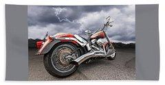 Lightning Fast - Screamin' Eagle Harley Beach Towel