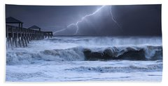 Lightning Strike Beach Towel