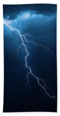 Lightning With Cloudscape Beach Towel