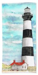 Ligthhouse Bodie Island, North Carolina Beach Towel
