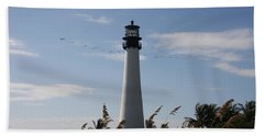 Ligthouse - Key Biscayne Beach Towel by Christiane Schulze Art And Photography
