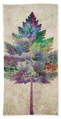 Like A Tree Beach Towel by Klara Acel