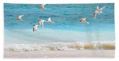 Like Birds In The Air Beach Towel