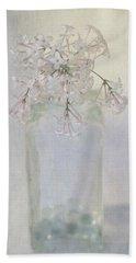 Lilac Flower Beach Towel